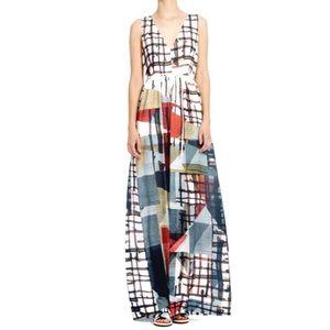 Clover Canyon Gradient Plaid Maxi Dress multicolor